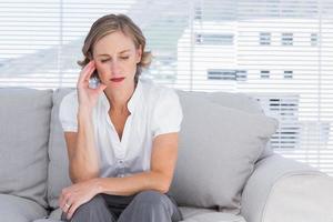 besorgte Geschäftsfrau