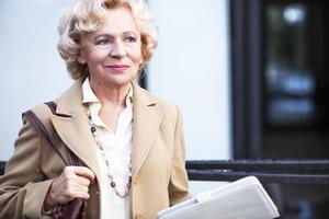 ältere Geschäftsfrau foto