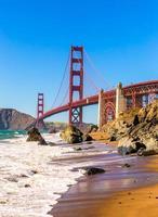 San Francisco Golden Gate Bridge Marshall Beach Kalifornien foto