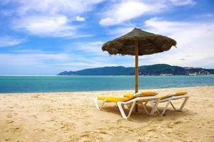 Strand Sonnenschirm foto