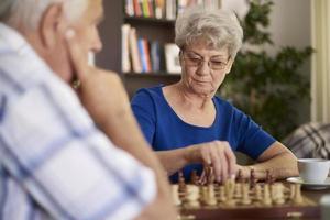 Schach ist ein Spiel, das Geduld erfordert foto