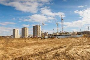 Bau eines Wohngebietes foto