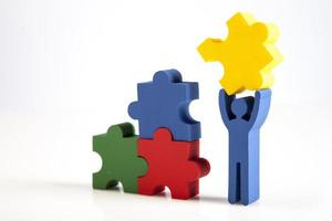 Konzept der Teamarbeit, Menschen und Ikonen foto