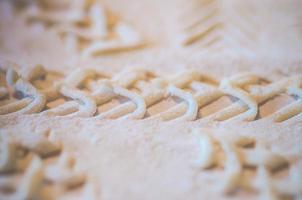 Muster im Brot foto