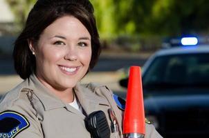 lächelnder Offizier foto