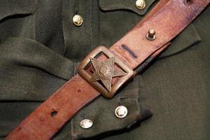 sowjetischer Offiziersgürtel foto