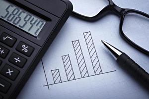 Diagramm Grafik für das Finanzgeschäft foto