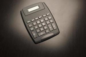 schwarzer Taschenrechner foto