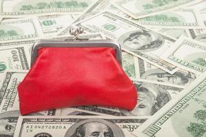 Geldbörse und Dollar foto