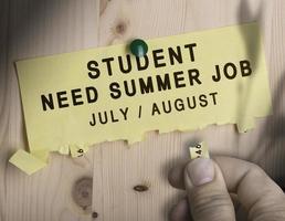 Sommerjob, saisonale Jobsuche foto