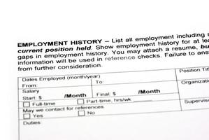 Beschäftigungsgeschichte foto