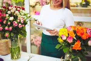 Florist mit Touchpad