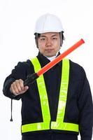 Wachen der Baustelle foto