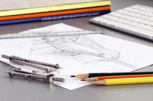 Arbeitsplatz des Designers