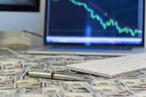 Arbeitsplatz des Investors