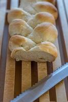 hausgemachte Zopfbrotbäckerei foto