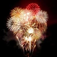 schönes goldenes Feuerwerk foto