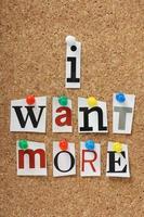 Ich will mehr