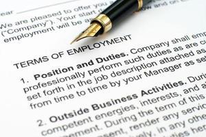Arbeitsvertrag foto