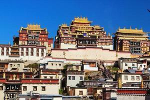 Songzanlin-Tempel in der zhongdischen Stadt (shangri-la), Provinz Yunnan, China foto