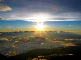 Japan, die herrliche Aussicht vom Gipfel des mt.fuji foto