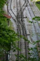 schaltet auf Eisenbahnschienen