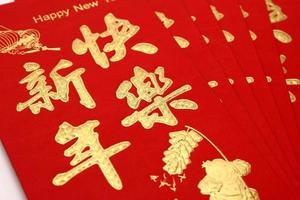 chinesischer roter Umschlag foto