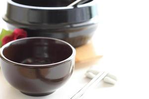 koreanische Kultur, Tasse und Topf foto