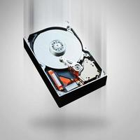 Computerfestplatte fällt foto