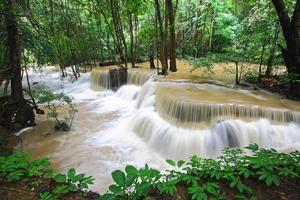 kühler Wasserfall