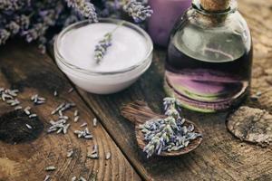 Lavendel Spa-Einstellung foto