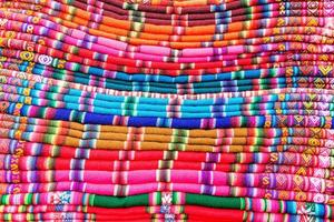 bunte Stoffe in Bolivien foto