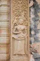 Steinschnitzerei am Schlossfelsen-Tempel foto