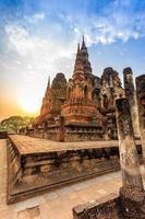 Sukhothai historischen Park die Altstadt von Thailand bei Sonnenuntergang