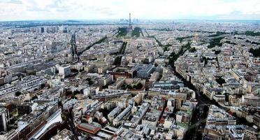 Vogelperspektive von Paris