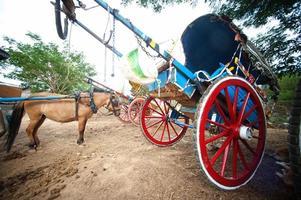 Kutsche in der antiken Stadt Myanmar. foto