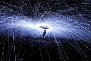 Schauer heiß glühender Funken foto