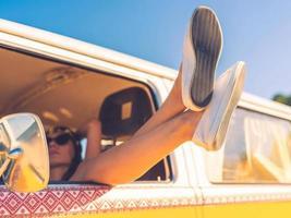 Tag im Auto träumen.
