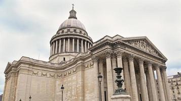 das pantheon gebäude in paris foto