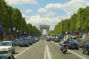 Bogen de Triomphe vom Kreuzungspunkt foto