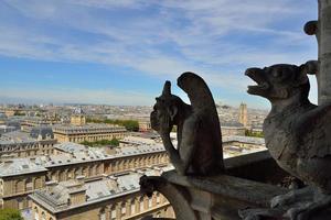 Wasserspeier von Notre Dame, Paris foto