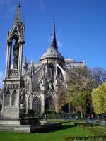 die notre dame kathedrale von paris, frankreich foto