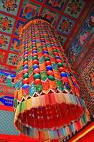bunte mongolische Tempeldecke foto