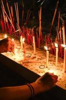 Kerze beten foto