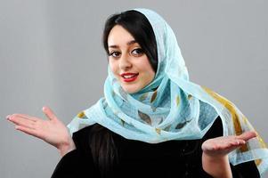 Frauenporträt aus dem Nahen Osten foto