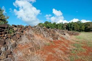 pu'u o mahuka heiau, heilige stätte auf oahu, hawaii foto