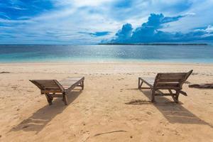 einsamer Strand foto