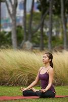 Lebensstil Yogi meditieren foto