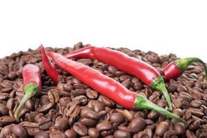 Kaffee und Chili foto