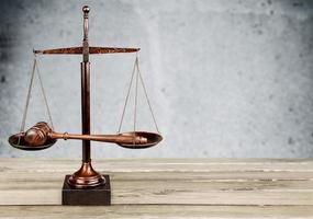 Recht, Rechtssystem, Waage der Gerechtigkeit foto